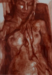 Henna - Quintessence - 2014 - 70 x 50 cm slash 28 x 20 inches -tempera on paper