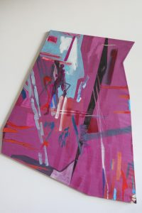 Purple Shape_1 - 2015 - acrylic on canvas