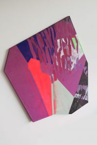 Purple Shape_2 - 2015 - acrylic on canvas