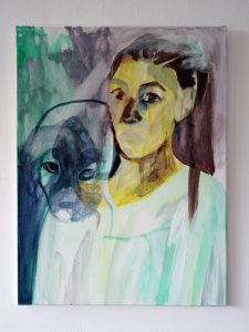 Roua and the Nightgown - 2015 - 80 x 60 cm slash 31 x 24 inches - acrylic on canvas (2)
